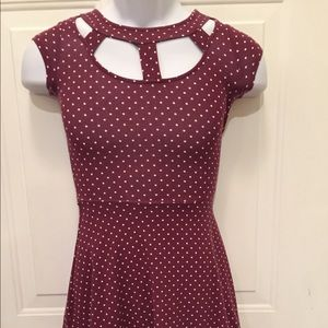 American Eagle Outfitters maroon Dress XXS